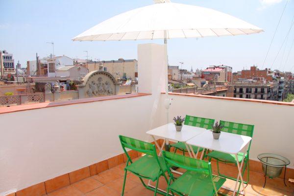 Apartamentos con terraza en Eixample