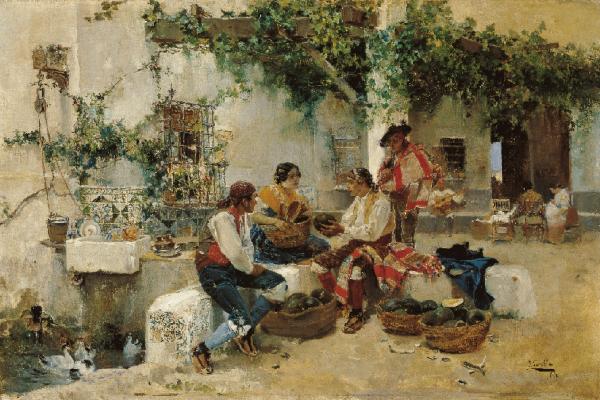 Joaquin Sorolla y Bastida Selling Melons