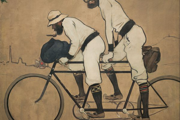 Ramon Casas   Ramon Casas And Pere Romeu On A Tandem   Google Art Project
