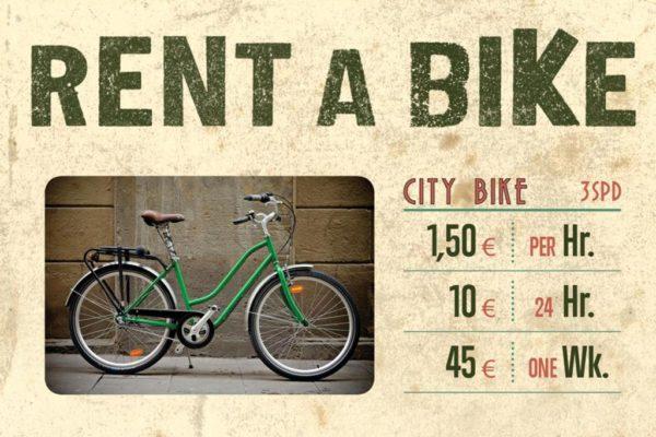 Alquila una bicicleta