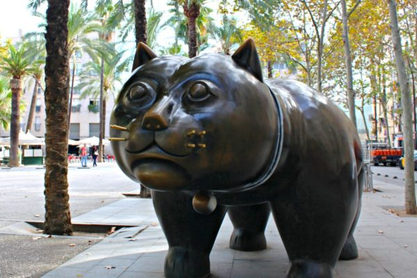 Gato Botero Barcelona Cat Sculpture