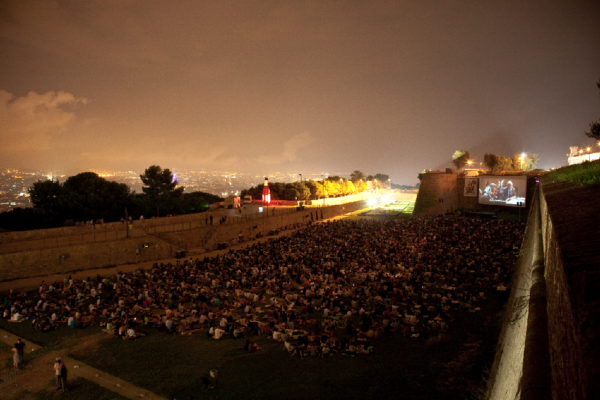 Open Air Cinema at Montjuic