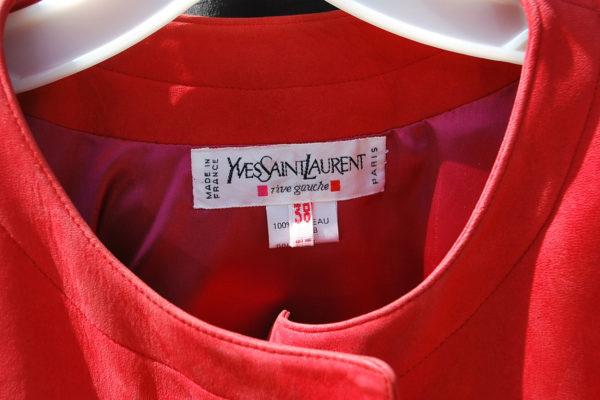 Vintage 80s Ysl París suave Cordero chaqueta de cuero del ante del Cabo como Big ancha gamuza chaqueta Yves Saint Laurent S38 de gran tamaño Por Thekaliman 2