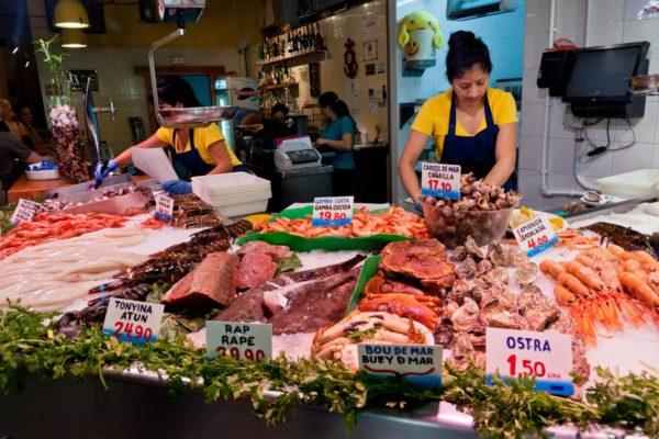 The stall Ресторан морепродуктов