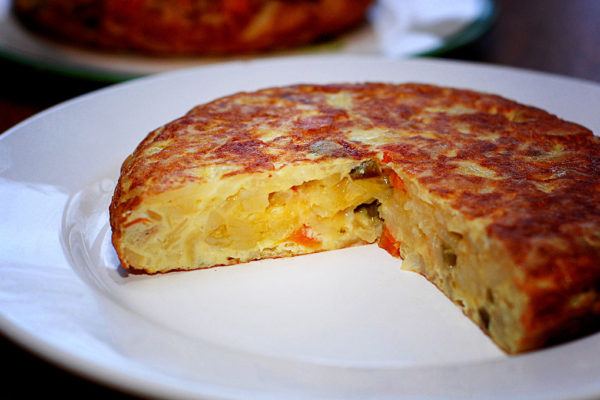 Español Tortilla fábrica de destello del flash