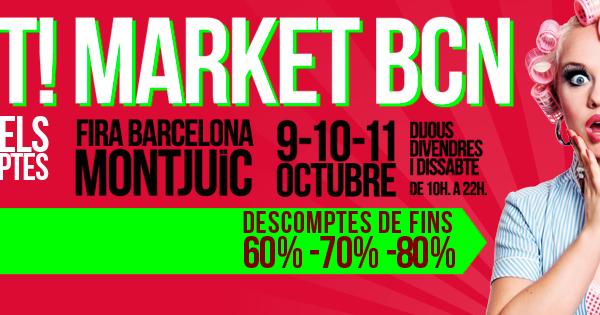 Out! Market BCN — ярмарка суперскидок 9-11 октября