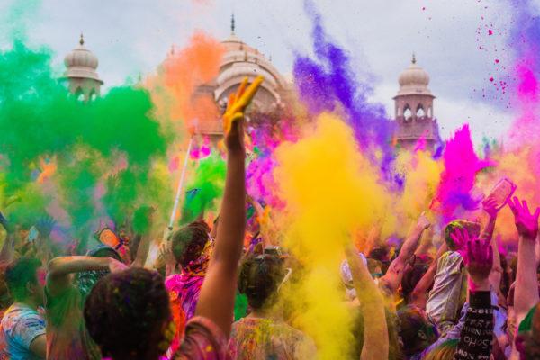 Indian Holi festival in Barcelona