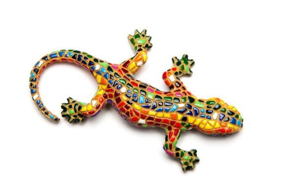 Iman Trencadis Dragon Mosaic Gaudi Magnet L
