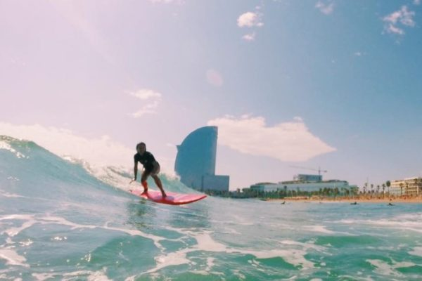 Surfing in Barcelona