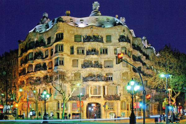 "Jazz on the roof of the house of Gaudi ""La Pedrera"""
