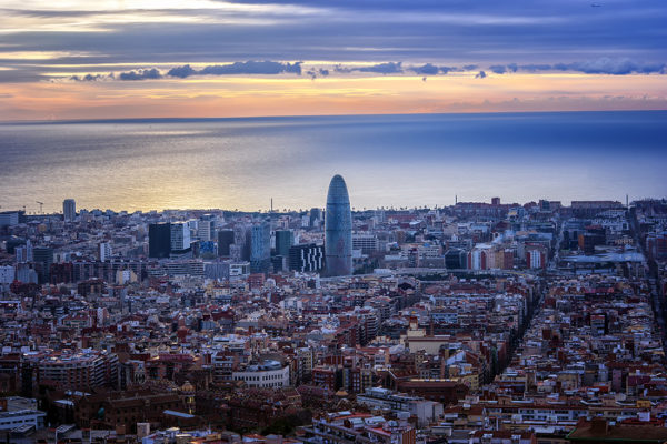 best 5 places, to watch the sunset in Barcelona