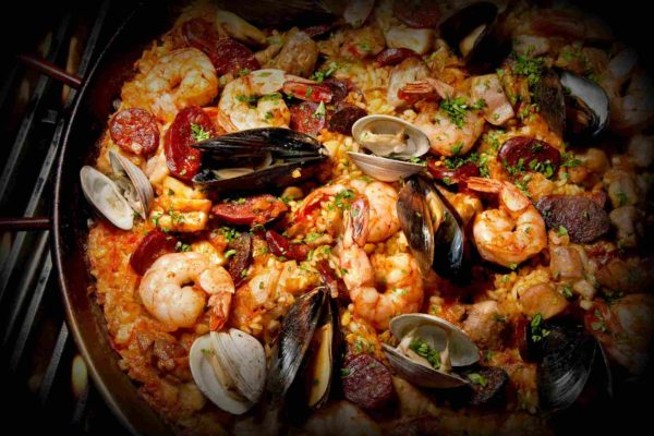 Black Rice Paella Seafood Restaurant in Barcelona Guito
