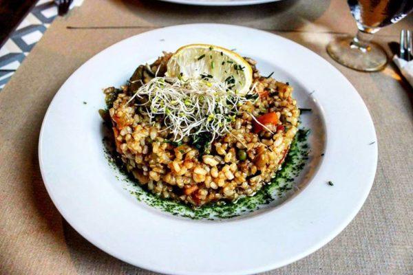 Paella vegana Vegetalia de Barcelona