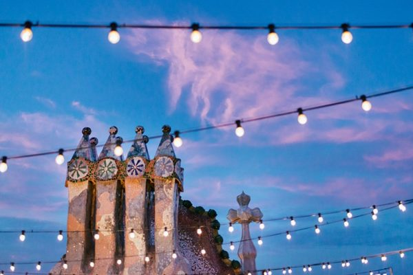 Live music on the roof of Gaudi Batllo