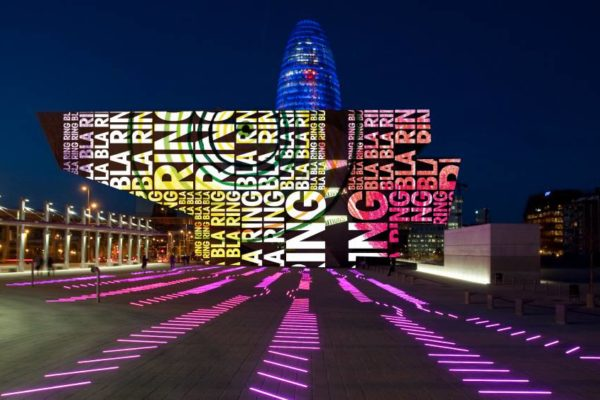Festival of Light in Poblenou